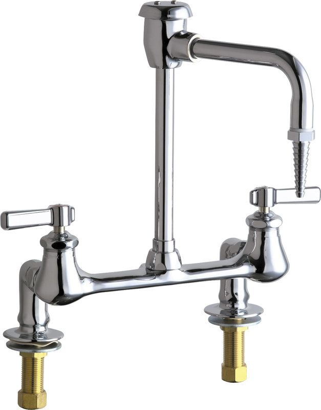 View the Chicago Faucets 947-369 Bridge Style Lab Faucet with Lever ...