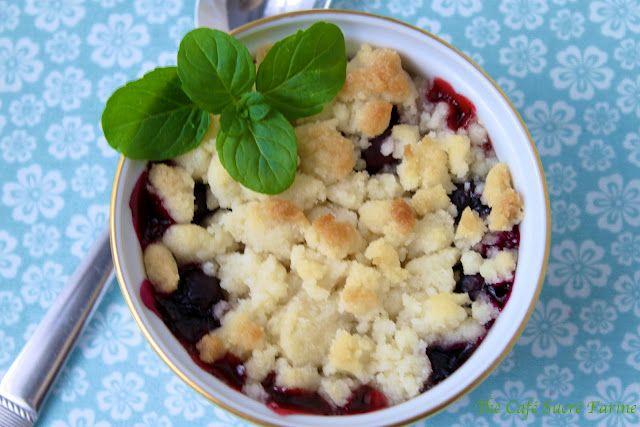 Little Black Dress Raspberry-Blueberry Cobblers