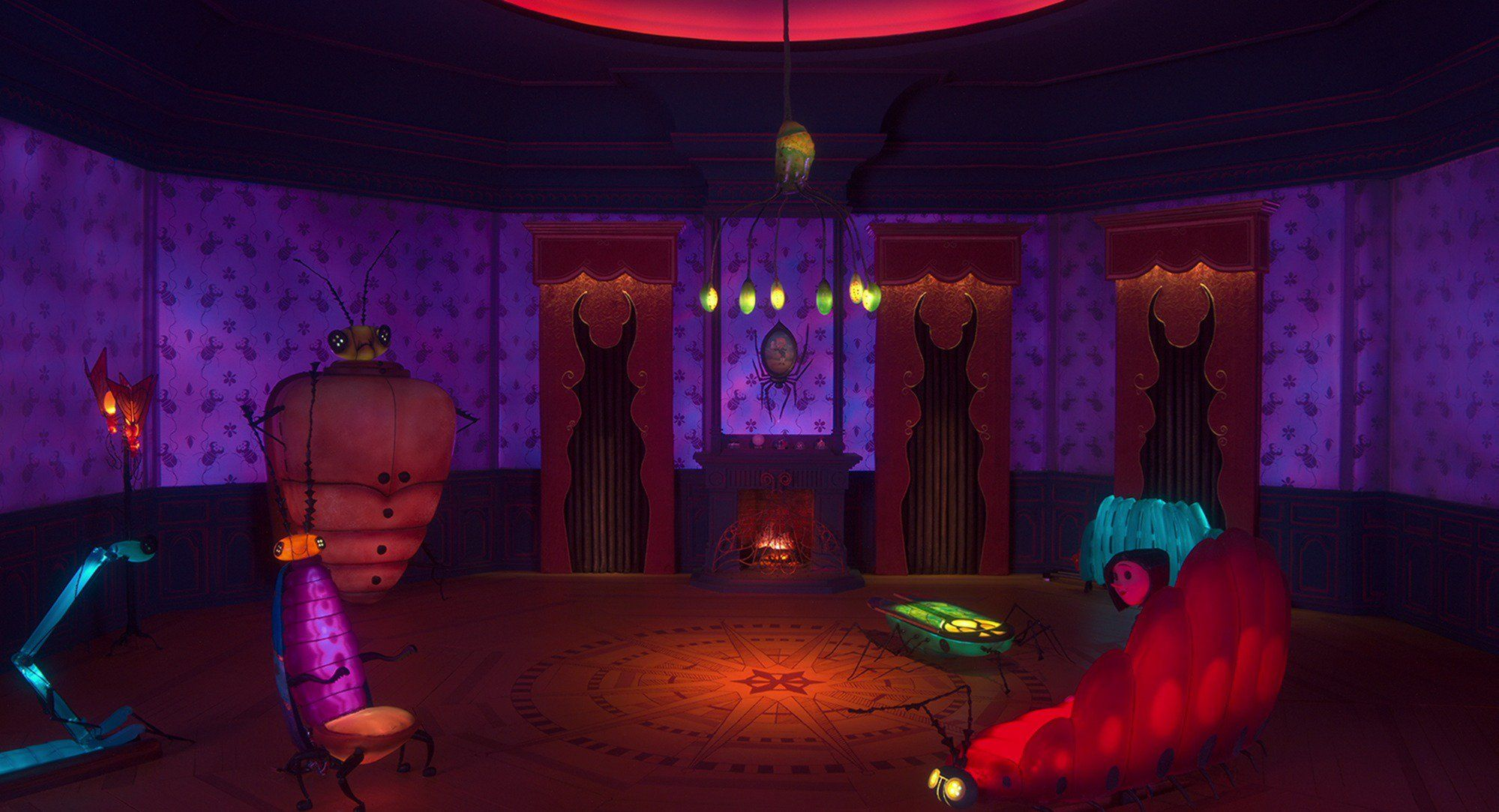 High Res Shot Of Other Mother S Bug Room From Coraline Coraline Visual Development Coraline Aesthetic