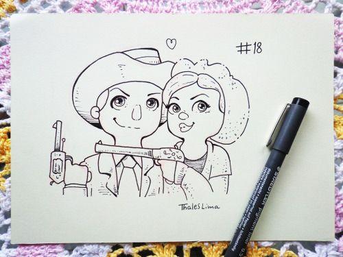 Dando uma adiantada para ficar em dia com o Inktober 2016. Bonnie e Clyde e um monstrinho chateado. :3 Facebook: https://www.facebook.com/thaleslimadesenhos/ Instagram: https://www.instagram.com/thaleslima_ds/