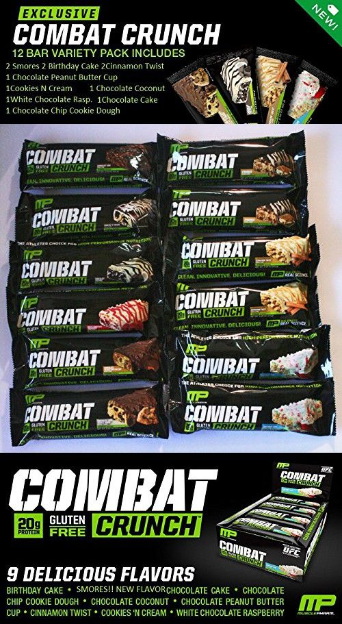 Muscle Pharm Super Variety 9 Flavor 12 Count Protein Bars Sports Nutrition