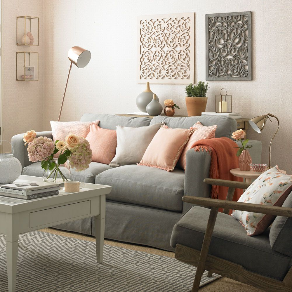 Living Room Colour Schemes Living Room Colour Living Room Colour Idea Living Room Color Schemes Living Room Grey Peach Living Rooms #peach #living #room #curtains