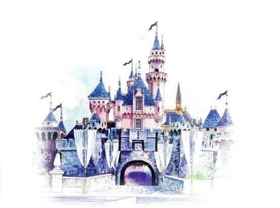 Sketch Of Sleeping Beauty Castle At Hong Kong Stuff To Draw Wallpaper