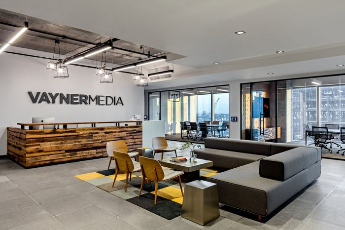 Reception area from VaynerMediau0027s NYC offices