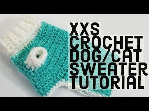 Como hacer un sueter para perro tejido a crochet - YouTube   Punto ...