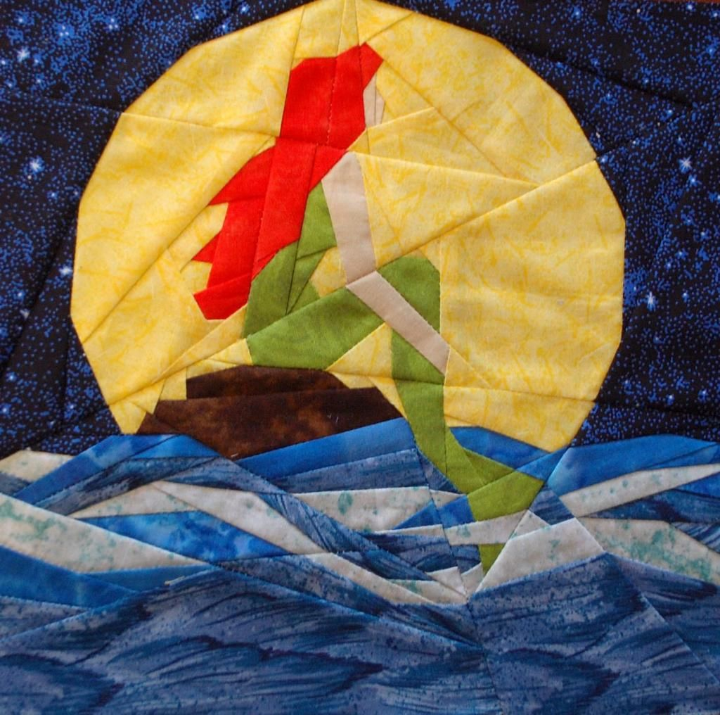 Little Mermaid by Katie Olson, tested by Jessica Blacknall photo ... : mermaid quilts - Adamdwight.com