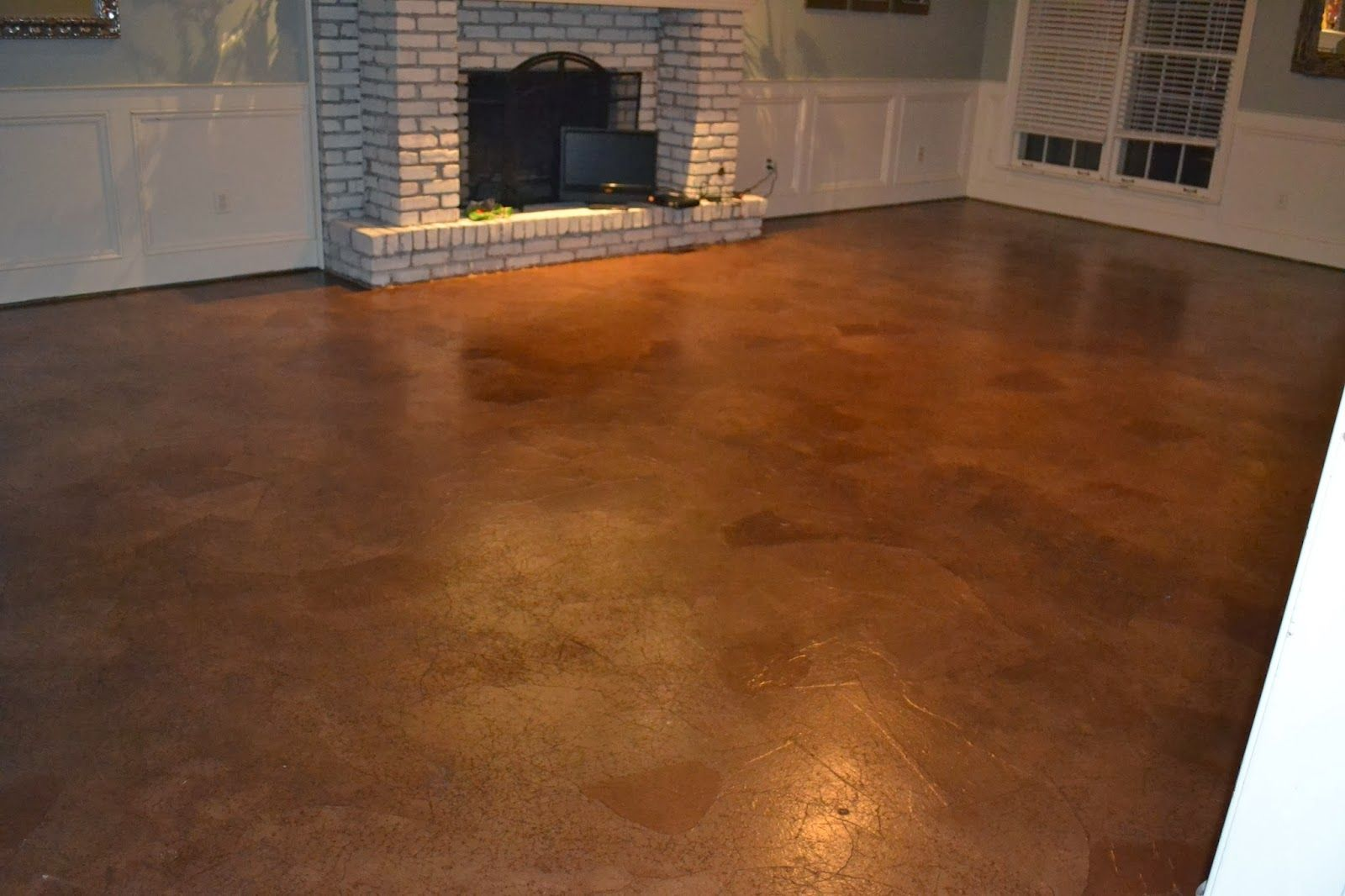 Stained Concrete Floor Over Wood Subfloor