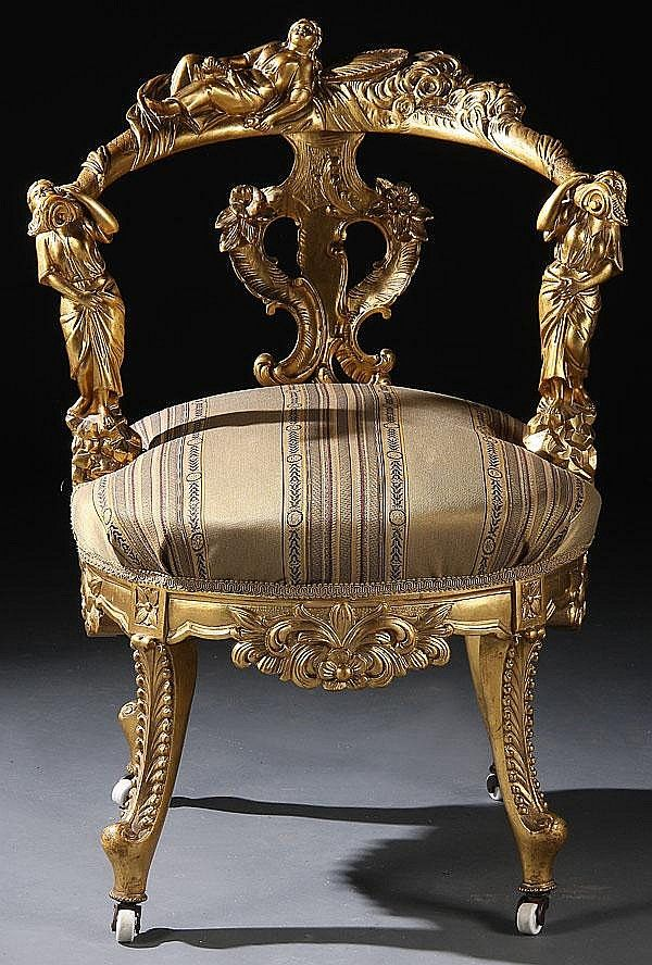 An Italian Renaissance Revival Carved And Gilt Renaissance Furniture Fine Antique Furniture Rococo Chair
