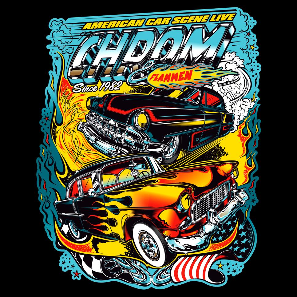 Shirt design louisville ky - First T Shirt Design Chrom Flammen Germany 2016