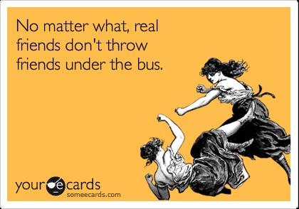i got thrown under the bus