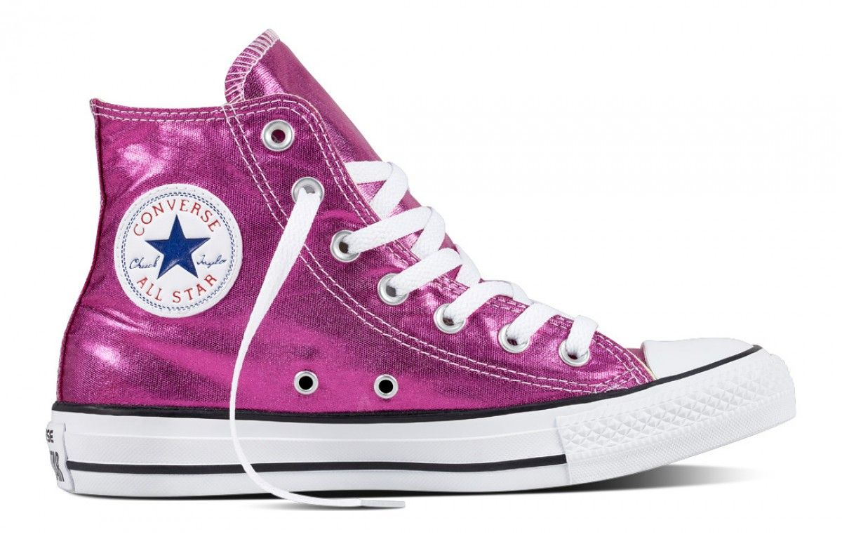 Converse Chuck Taylor All Star Hi Top Metallic Magenta White  Black ... 6051e939c