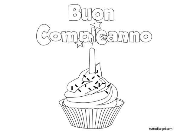 Scritta Buon Compleanno Con Disegno Buon Compleanno
