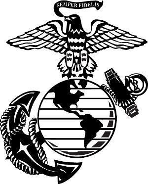 Usmc Marine Eagle Globe Anchor Decal Silhouette Clip Art