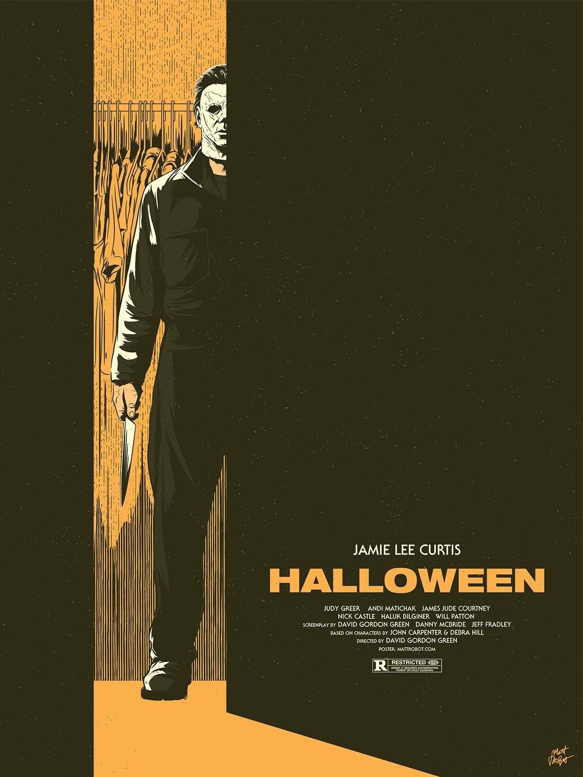 "Horror Movie Poster Art ""Halloween"" 1978, by Matt Talbot"