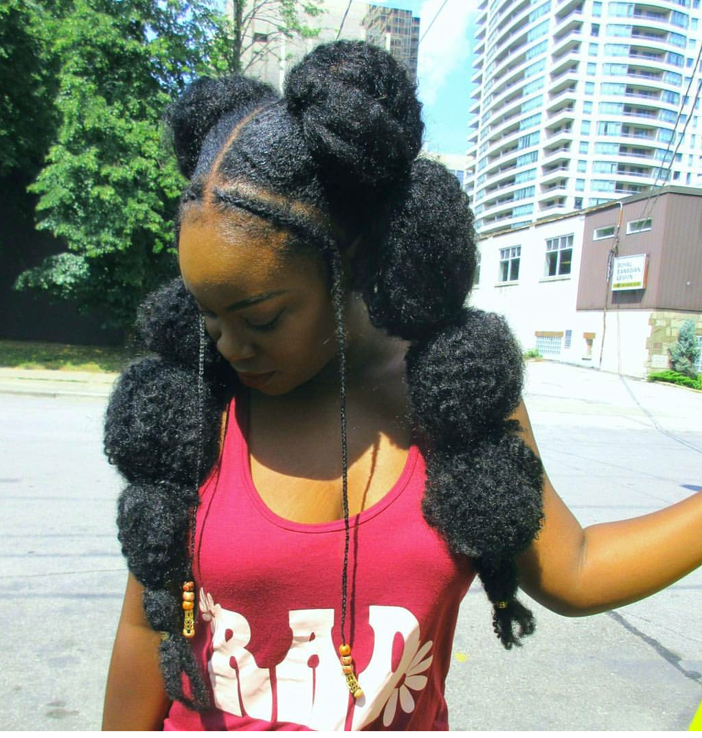 12 Gorgeous Must See Bubble Ponytail Styles On Natural Hair Natural Hair Styles Bubble Ponytail Hair Styles