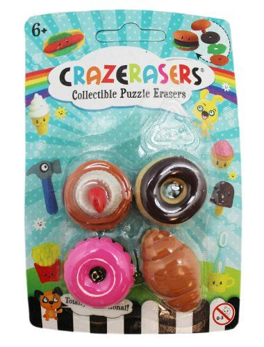 Totally FUNctional Assorted Donuts Crazeraser Collectible Puzzle Erasers Fashion Angels