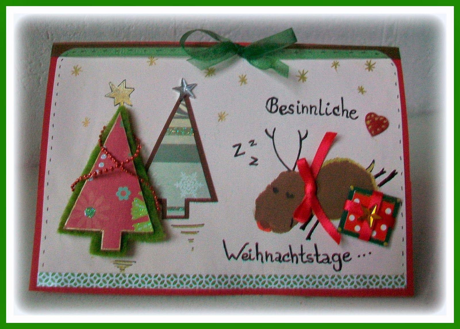 Bemerkenswert Weihnachtskarten Selbst Basteln Sammlung Von Betty`s Kinnerkram: Selber