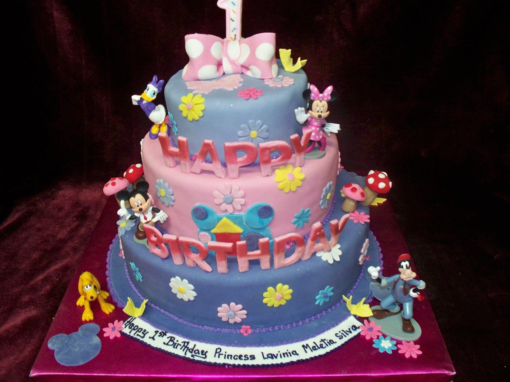 Minnie mouse 3 tiered birthday cake wwwfrescofoodsconz