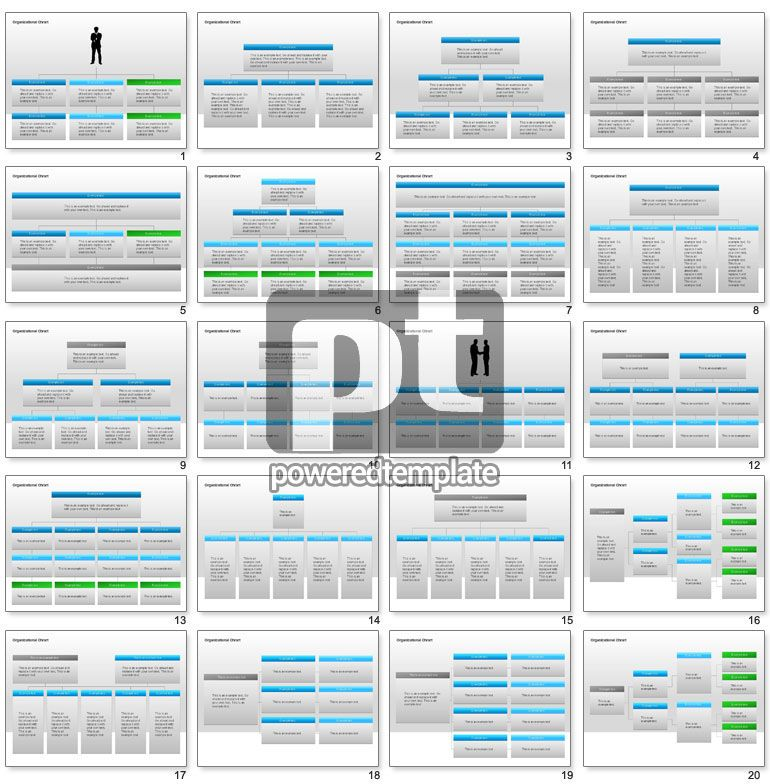 Organizational Charts with Text Boxes PowerPoint Charts and - business organizational chart