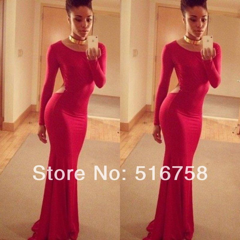 Popular Long Sleeve Tight Mermaid Prom Dress-Buy Cheap Long Sleeve ...