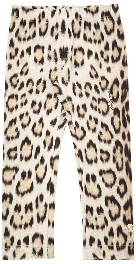 f878e5d15 Leopard Printed Cotton Jersey Leggings #waistband#Elastic#print ...