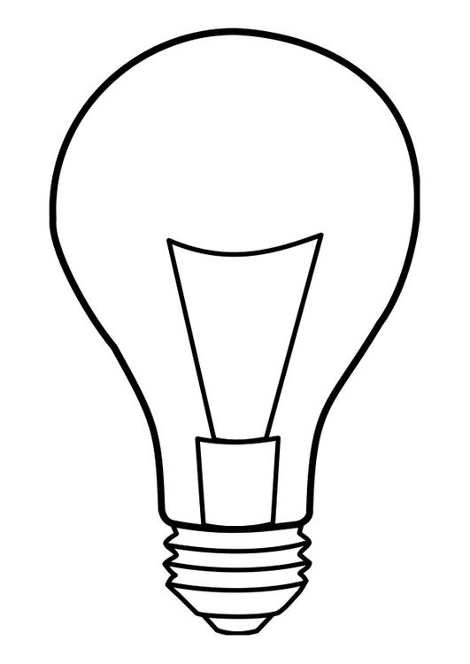 Coloring Page Lamp Lightbulb Print Cartoon Light Bulb Online Coloring Pages
