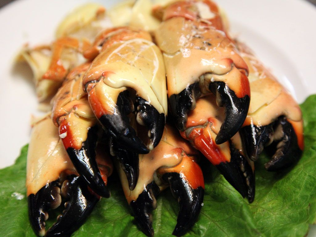 Coming soon to a spotos oyster bar near you stone crab