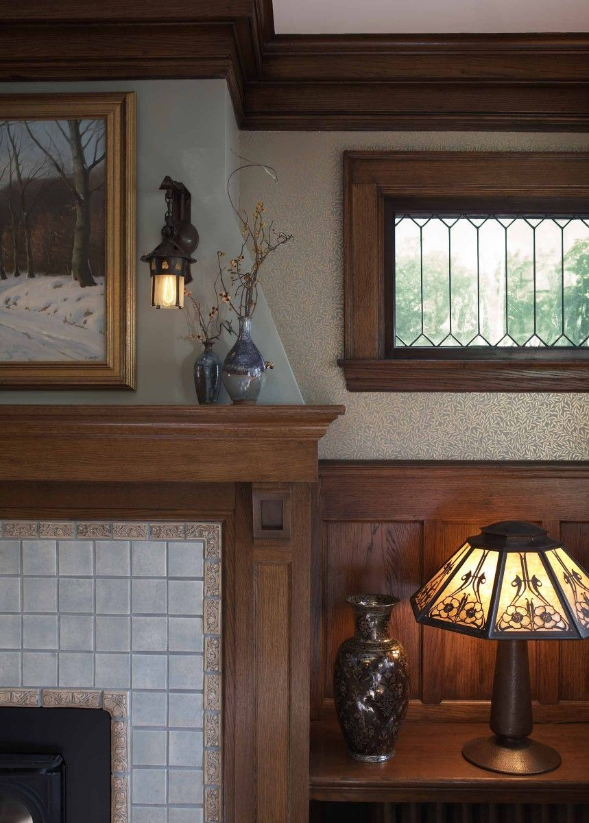 Craftsman fireplace trehus architects in 2020