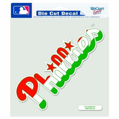 MLB Philadelphia Phillies 8-by-8 Inch Diecut Colored Decal