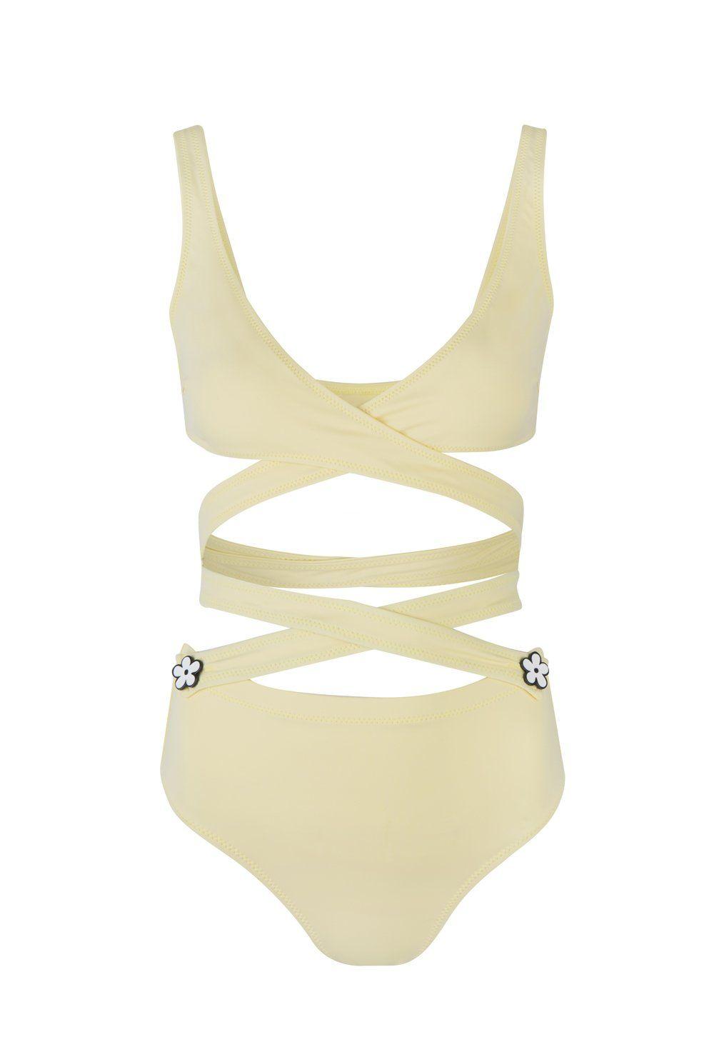 6f95be87fa Pastel Yellow The Lauren Multiway Bikini in 2019 | wishlist ...