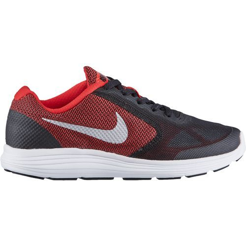 Nike Boys  Revolution 3 GS Running Shoes University RedMetallic Silver Black