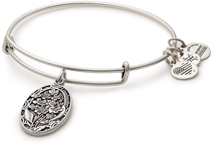 Alex And Ani Because I Love You Grandmother Flower Charm Expandable Wire Bangle Bracelet