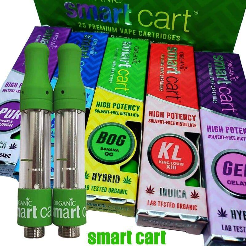 Smart Carts Organic Premium Vape Cartridges 1 0ml with all