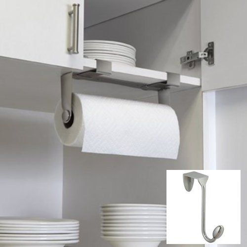Cabinets Or Storage Rooms Black Mdesign Modern Kitchen Roll Holder Adaptable Wall Mounted Paper Towel Holder Wall Mounting Paper Towel Dispenser For Kitchens Racks Holders Home Kitchen