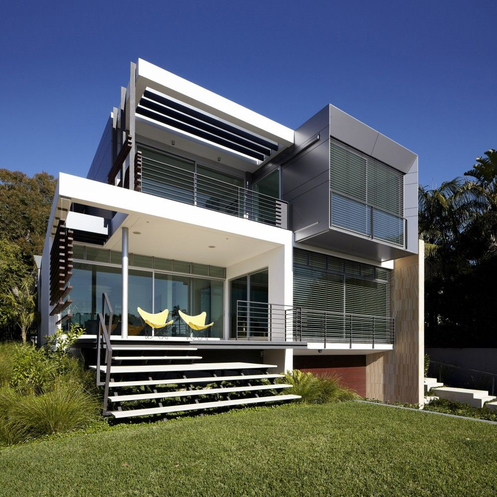Concrete Walls Home Inspired By Ship Sails Contemporary House Design Architecture Architecture Design
