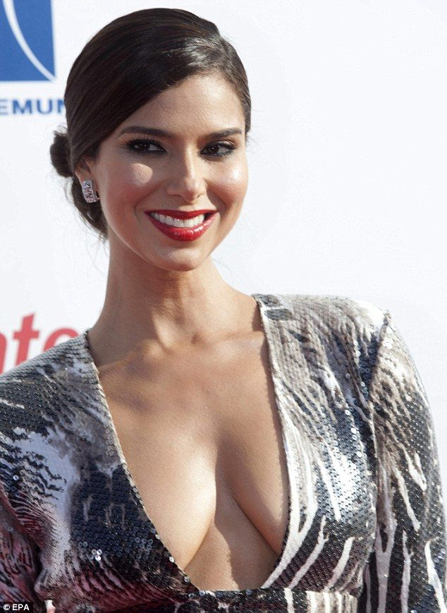 Roselyn Sanchez Shows Some Front In A Plunging Gown As She
