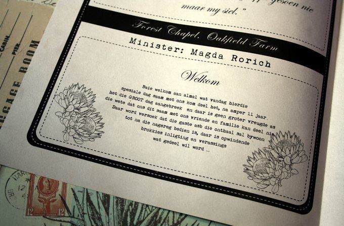 Rustic Newspaper Wedding Program - A welcome message to encourage their guests to stay and enjoy all of the festivities was included ♥ #wedding #program #rustic