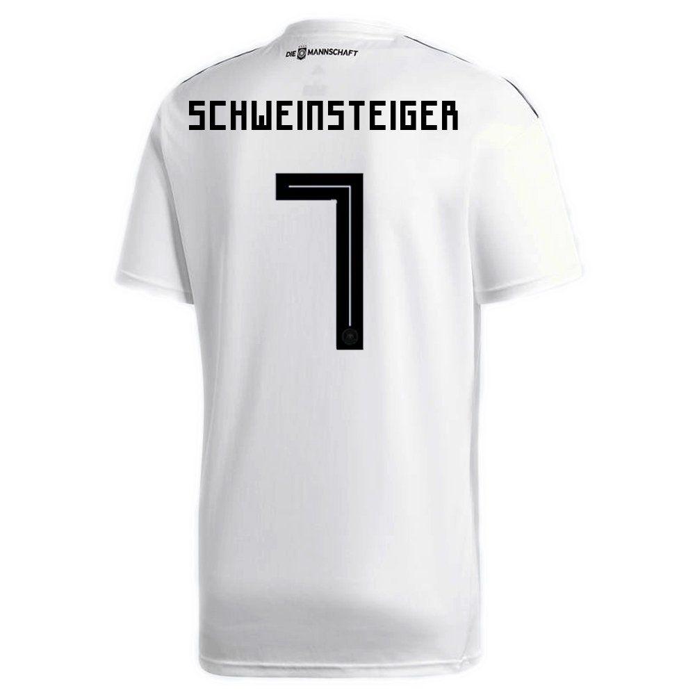 0c8fe80aa04 adidas SCHWEINSTEIGER   7 Germany Home Soccer Stadium Mens S S Jersey World  Cup Russia