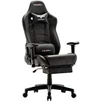 Ficmax Massage Gaming Chair Ergonomic Computer Gaming Chair with Footrest Plus Size Gamer Chair High Back PU Leather Computer Chair Heavy Duty Racing Style Gaming Desk Chair With Headrest and Lumbar Support #gamingdesk