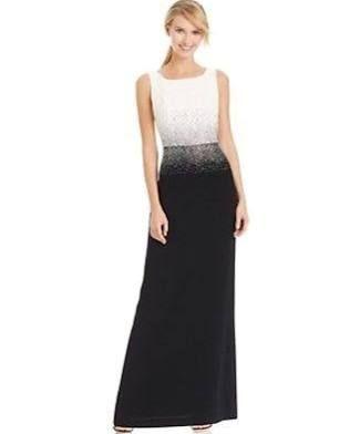 Calvin Klein Formal Dress Black White Sequins Google Search