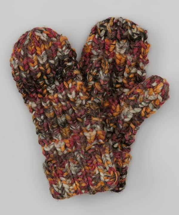 Take a look at this Dark Gray & Orange Mittens on zulily today!