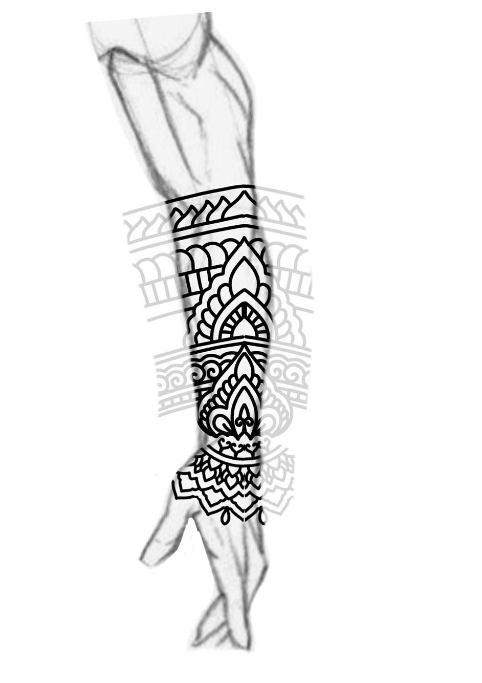 Blackwork Forearm Sleeve Mandala Ornamental Bold Lines Tattoo Design Electronic Circuit Board Full Male Follow Me On My Blog To Join All Tips And Tricks About Tattoos