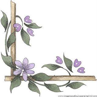 Borde Con Violetas Para Decorar Folios Bordes Para Decorar