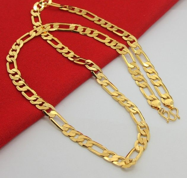 965876c2eb109 24K Gold Plated chain necklace for men 70CM 8MM in 2019 | www ...