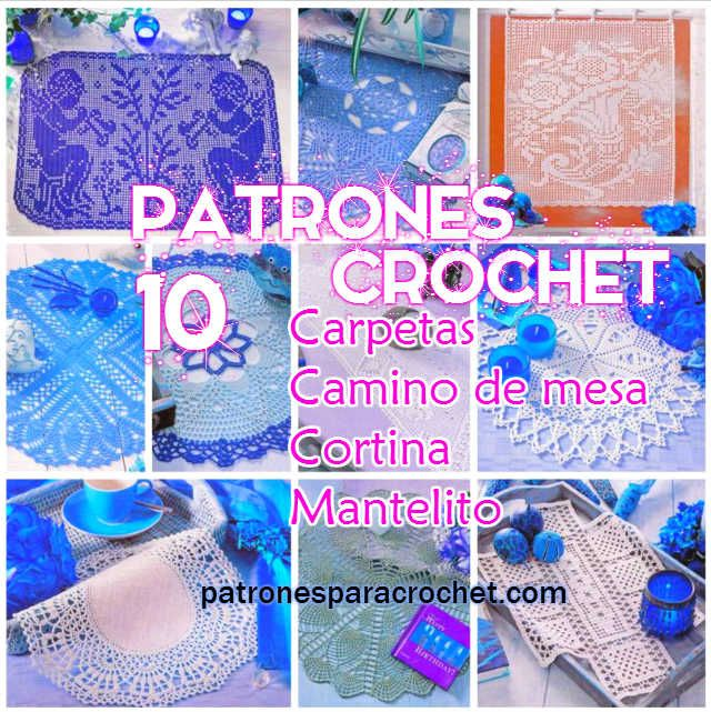 Patrones crochet, carpetas, vestidos, bebe, blusa, ganchillo ...