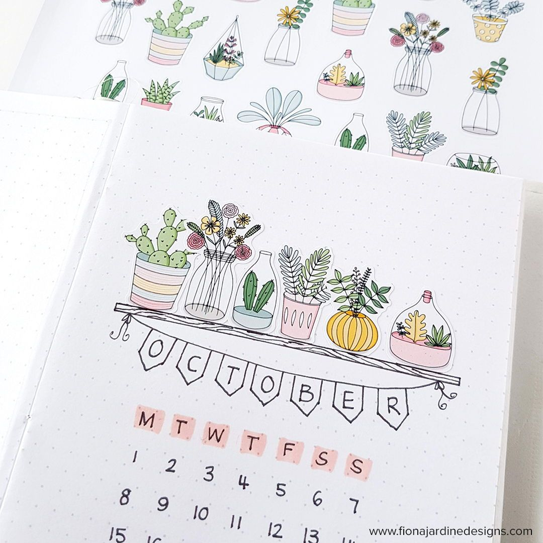 Plant Printable Planner Stickers, Decorative Floral Bullet Journal Stickers, Printable Stickers for Decorating Daily Planner Layouts