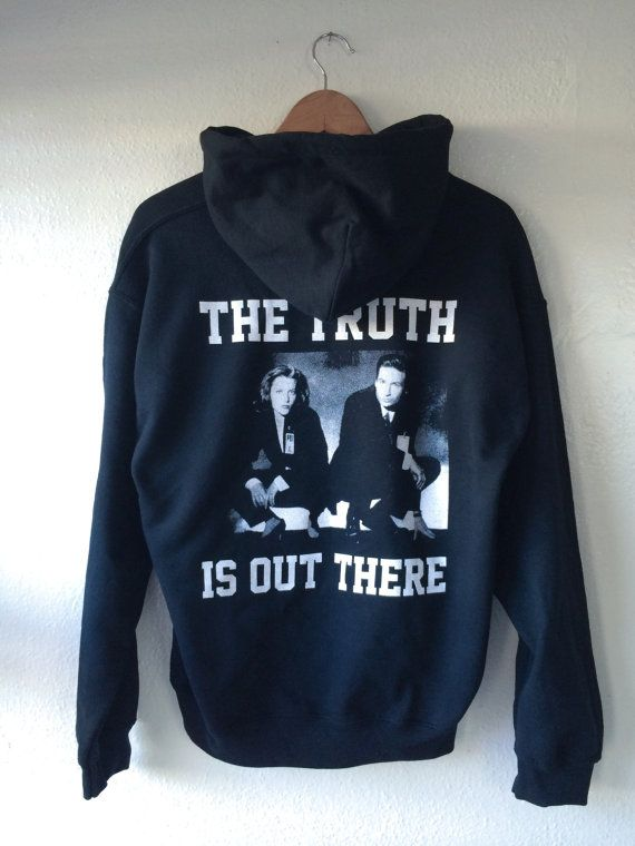 X Files Hoodie Truth Out There Scully Mulder Hoody Jumper Top Sweatshirt Gift