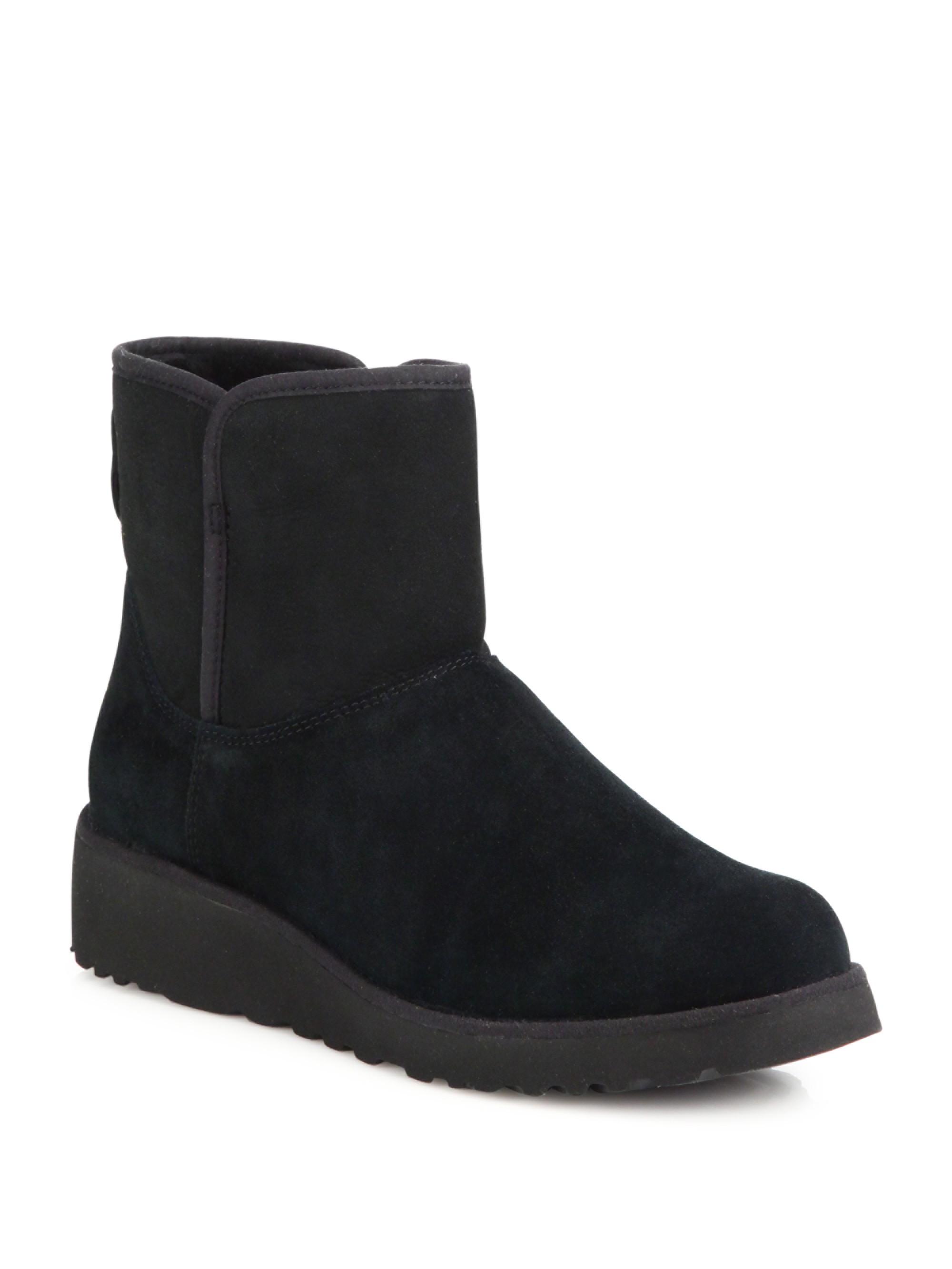 66113e0a9af Ugg Australia Kristin Slim Short Sheepskin Wedge Boots - Chestnut 8 ...