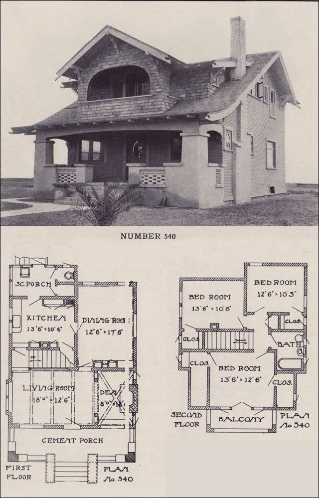 1912 California Bungalow Los Angeles Investment Company Arched Balcony California Bungalow Craftsman House Plans Vintage House Plans
