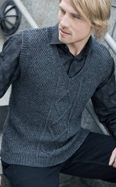 charcoal grey sweater vest | Cardigans For Men | Pinterest